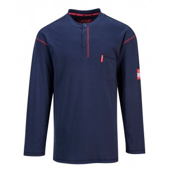 Flame Resistant Henley (button down) T-Shirt