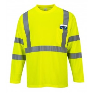 High Visibility Flame Resistant Long Sleeve T Shirt