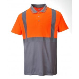 Hi Visibility Two-Tone Polo Shirt