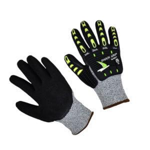 Impact glove Grey Cut