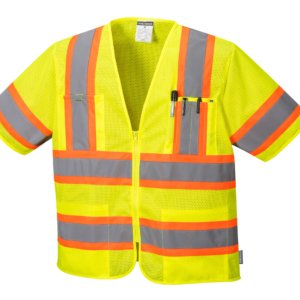 5 pt Breakaway Sleeved Hi-Vis Mesh Vest, PS382