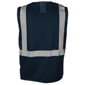 Blue Economy Mesh Multi-pocket Reflective Vest