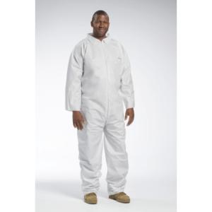 Posiwear BA 3600 White Disposable Coveralls