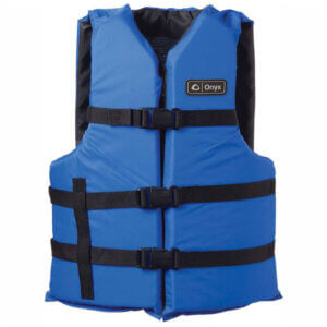 Kemp USA 4 Adult Universal Vests with Carrying Case – 2 Blue & 2 Red